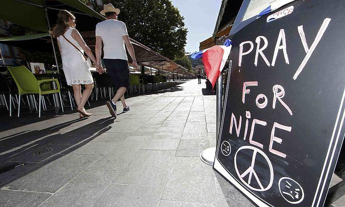 Symbolbild: Gedenken an den Anschlag in Nizza