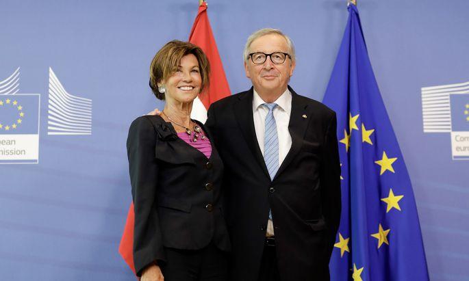 Bundeskanzlerin Brigitte Bierlein traf vor ihrem ersten EU-Gipfeltreffen Kommissionspräsident Jean-Claude Juncker.