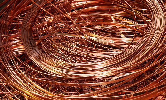 Binnen eines Jahres ist der Kupferpreis um rund ein Viertel gestiegen.