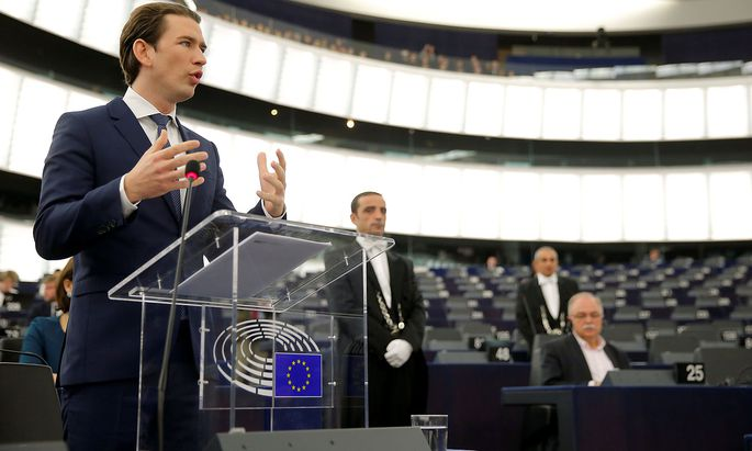 Kanzler Kurz resümierte den EU-Vorsitz Österreichs im EU-parlament in Straßburg.