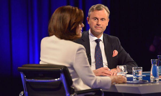 Ingrid Thurnher lud Norbert Hofer und Alexander Van der Bellen drei Tage vor der Stichwahl zum TV-Duell in den ORF
