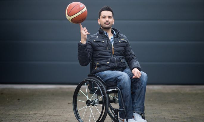 Tan Caglar - Model in a wheelchair