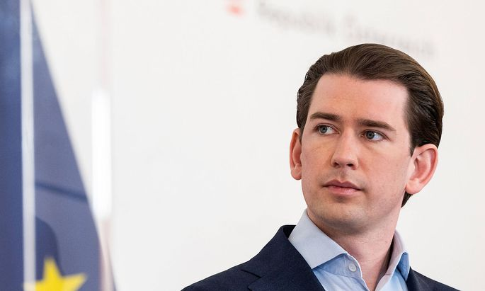 20210510 Presentation of the new opening regulation VIENNA, AUSTRIA - MAY 10: Federal Chancellor Sebastian Kurz (OEVP)