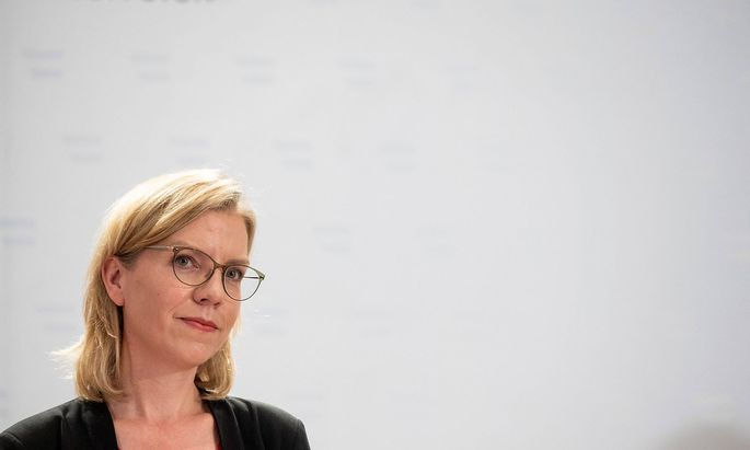 20210722 Climate protection through sustainable use of resources VIENNA, AUSTRIA - JULY 22: Minister for infrastructure