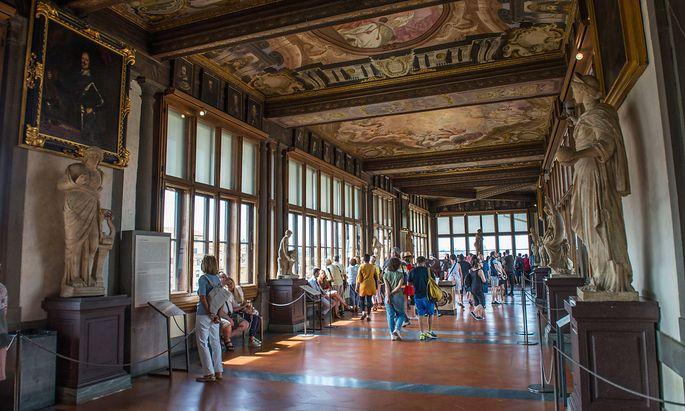 Die Uffizien in Florenz vor der Pandemie.