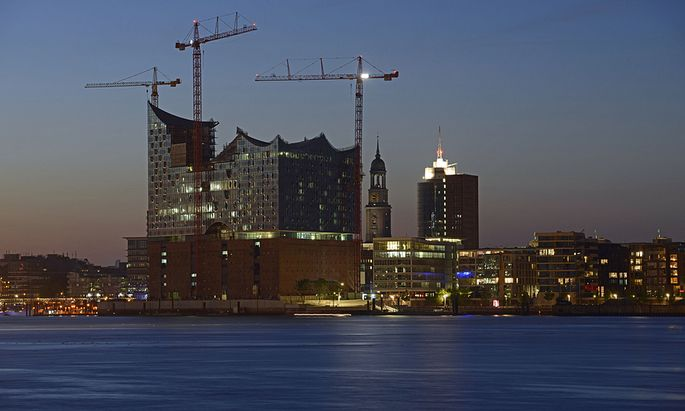 The ´Elbphilharmonie´ a concert hall under construction is pictured in the HafenCity quarter of Hamburg