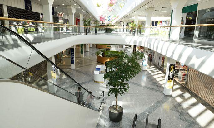 Einkaufswelt im Shutdown-Modus: Im Bild SCN in Wien-Floridsdorf.