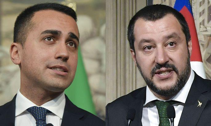 Lega-Vorsitzender Matteo Salvini und Fünf-Sterne-Chef Luigi Di Maio