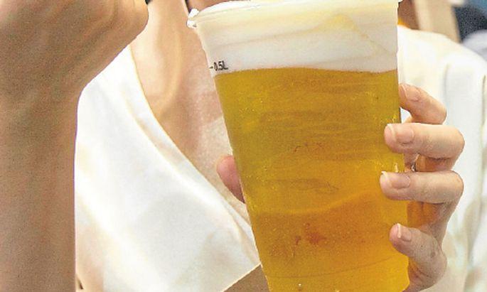 Drei Kugeln BierEis Japans