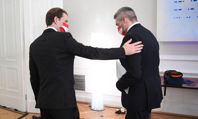 Kanzler Sebastian Kurz nahm Innenminister Karl Nehammer in Schutz und schob die Schuld in Richtung Justiz.