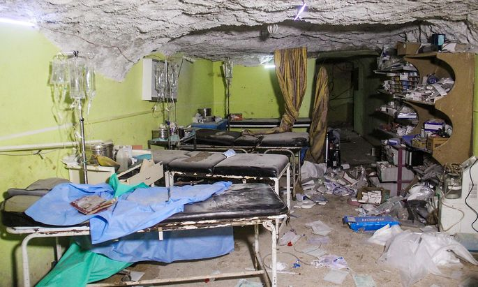 Ein Spitalszimmer in Khan Sheikoun.