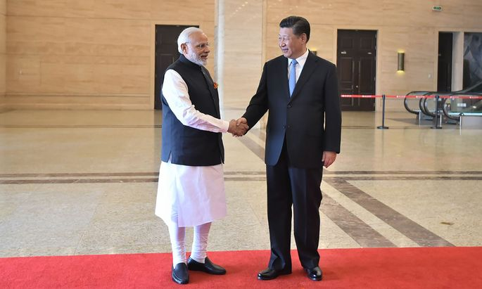 Narendra Modi und Xi Jinping.