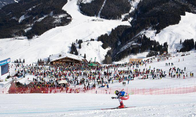 Skifahrer in Saalbach