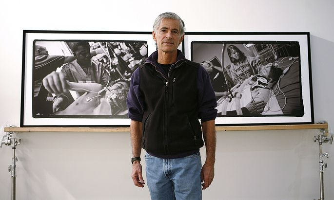 Photojournalist James Nachtwey poses for a portrait in New York