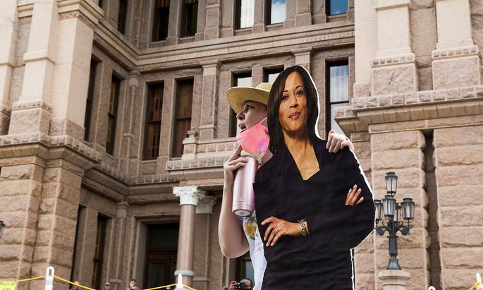 Protest against new voting restrictions in Austin