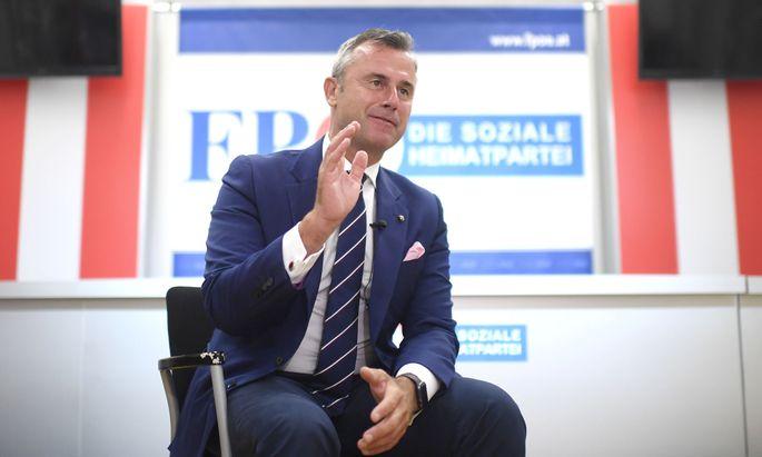 FPÖ-Klubchef Norbert Hofer