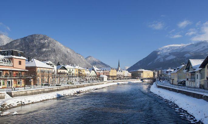 Das idyllische Bad Ischl (im Bild das Traunufer im Winter) will das Kulturkonzept auch nutzen, um Alternativen zum Hypertourismus zu finden.