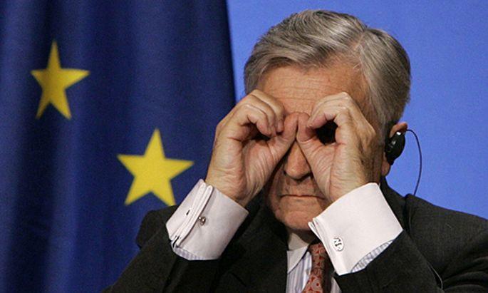 Die EZB (im Bild Chef Trichet) und die EU suchen einen Ausweg aus der Griechenland-Krise.