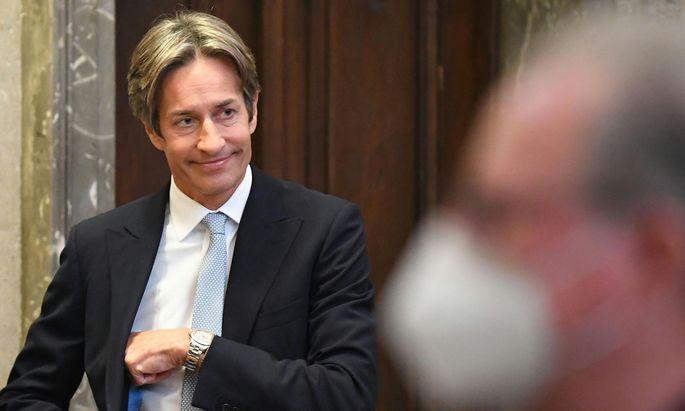 Karl-Heinz Grasser am Donnerstag, 15. Oktober 2020 im Wiener Straflandesgericht.
