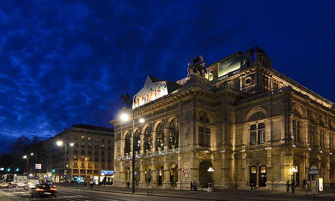 Staatsoper Wien Nacht beleuchtet
