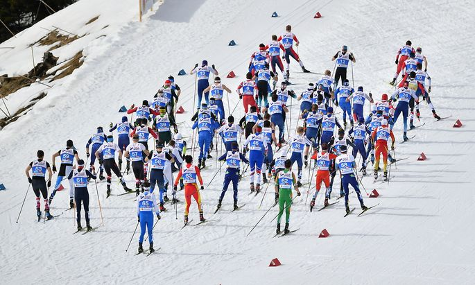 NORDISCHE SKI WM 2019 IN SEEFELD: SKATING 50 KM MASSENSTART / HERREN: START