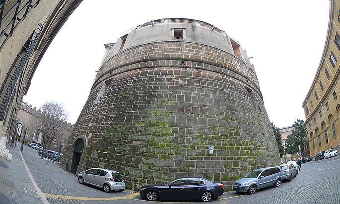 Die dicken Mauern der Vatikanbank.