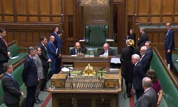 Das britische Unterhaus hätte vorzeitig in die Osterpause gehen sollen.