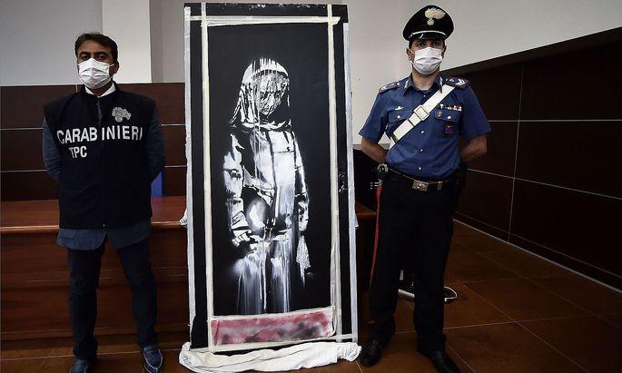 Festnahmen nach Fund von gestohlener Banksy-Tür