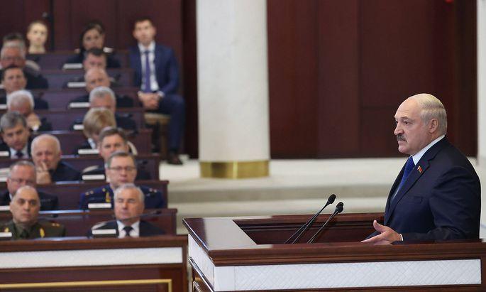 News Themen der Woche KW21 News Bilder des Tages MINSK, BELARUS - MAY 26, 2021: Belarus President Alexander Lukashenko s