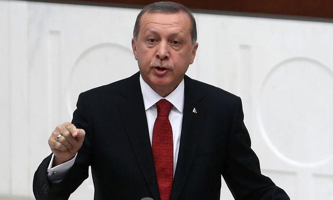 Türkische Präsident Recep Tayyip Erdoğan.