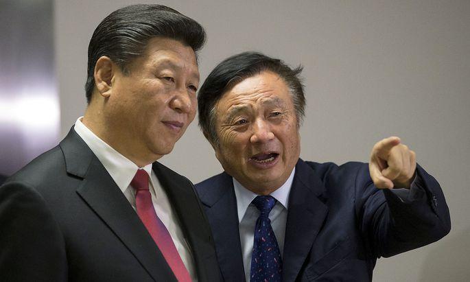 Präsident Xi Jinping mit Huawei-Gründer Ren Zhengfei.