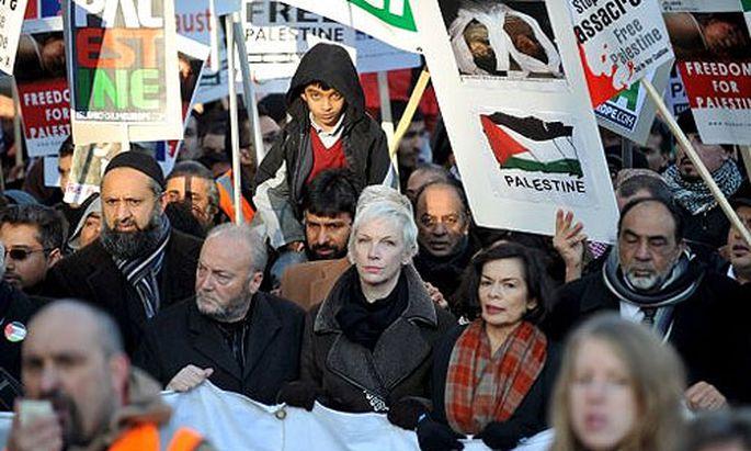 Demonstration gegen die israelische Militäroffensive in London.