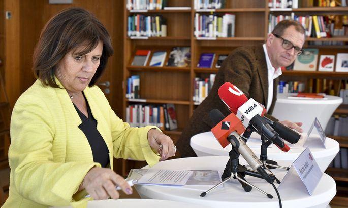Arbeiterkammer-Präsidentin Renate Anderl und AK-Direktor Christoph Klein