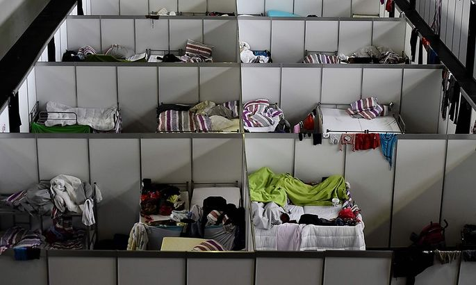 Flüchtlingsunterkunft in Berlin.