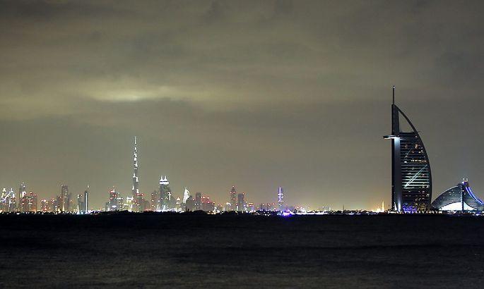 Die Skyline von Dubai.