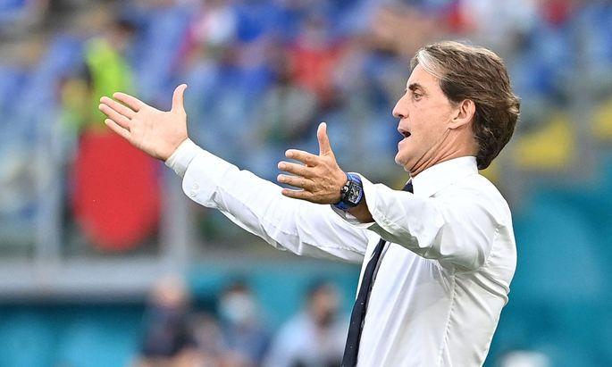 Trainer Roberto Mancini während des UEFA EURO 2020 Group A Matchs zwischen Italien und Wales.