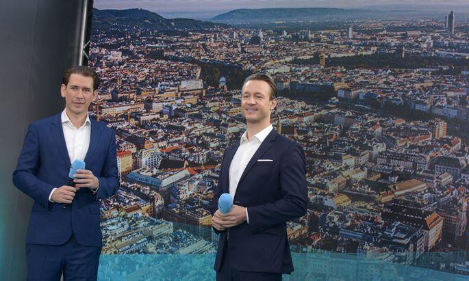 Bundeskanzler Sebastian Kurz und Finanzminister Gernot Blümel (beide ÖVP)
