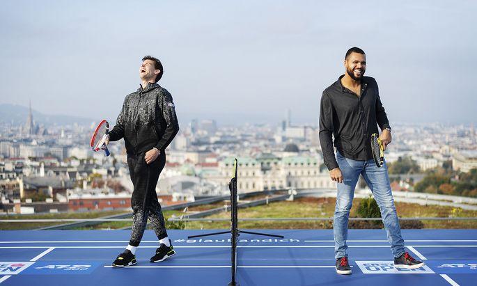 Dominic Thiem und Jo-Wilfried Tsonga