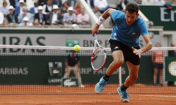 Dominic Thiem nimmt am Mittwoch Anlauf auf sein viertes French-Open-Halbfinale in Folge.