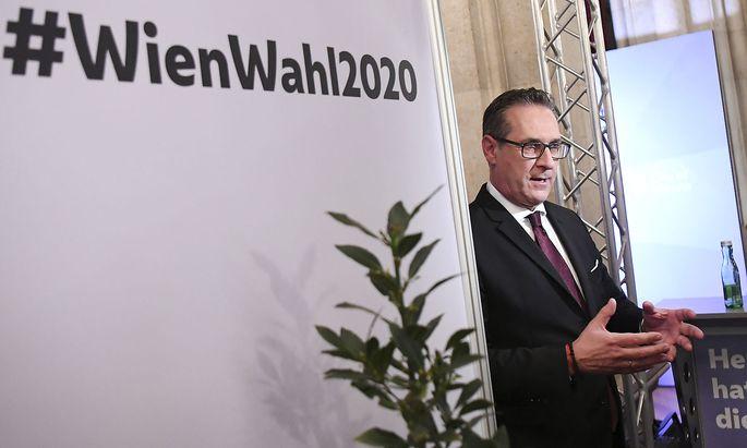 Heinz-Christian Strache am Wahlabend
