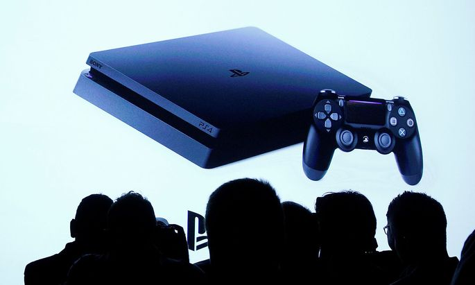 Guests attend a launch event for the new Sony PlayStation 4 Pro in New York