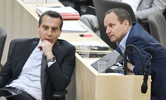 Parteiobmann Christian Kern (SPÖ), Klubobmann Matthias Strolz (Neos)