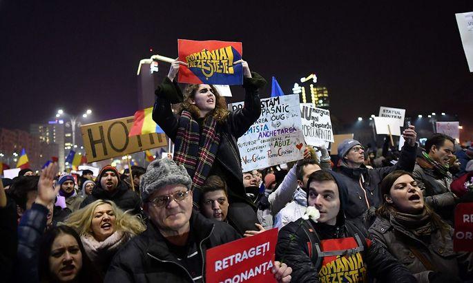 40.000 Menschen demonstrierten in Bukarest.