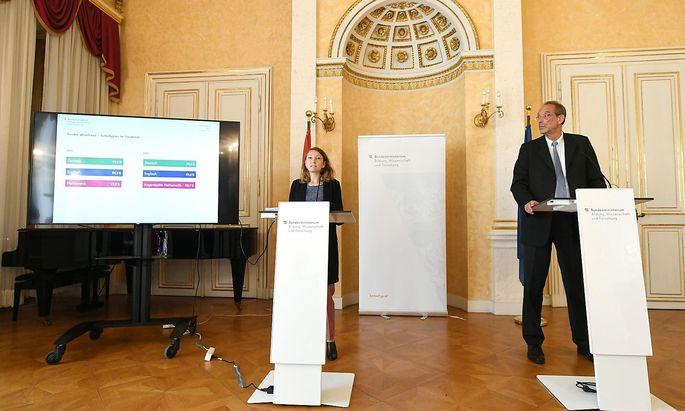PK BUNDESMINISTERIUM FUeR BILDUNG, WISSENSCHAFT UND FORSCHUNG (BMBWF) 'MATURA - ERGEBNISSE 2020 UND AUSBLICK 2021': FREBORT / FASSMANN