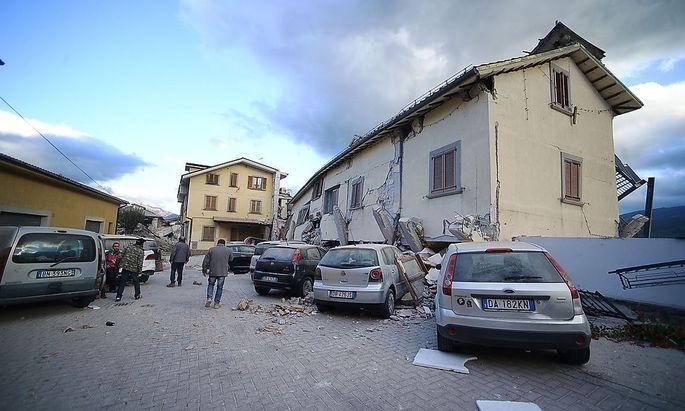 In Amatrice zerstörte das Beben viele Gebäude. In Österreich war das Beben nur leicht zu spüren.