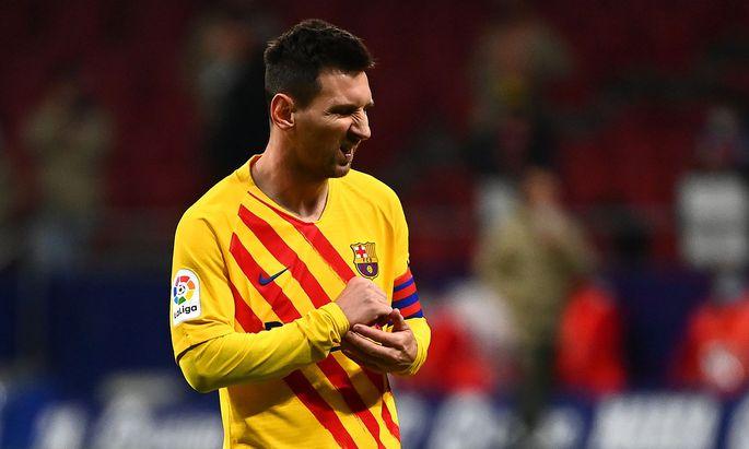 Auch Superstar Lionel Messi findet keinen Weg aus der Krise.