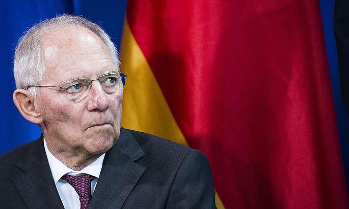 Wolfang Schäuble hat sprach von einer