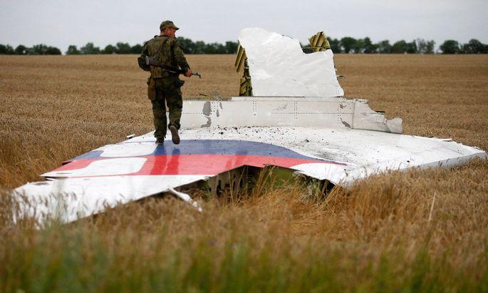 Wrackteil der abgeschossenen MH17.