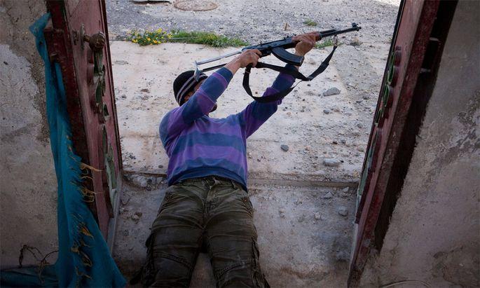 Syrien Kampf Rebellenhochburg Qusayr