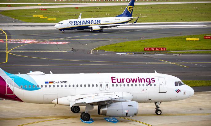 """Eurowings streicht Flüge wegen Sturmtief """"Sabine"""""""